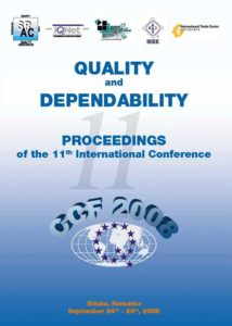 Proceedings of the 11th International Conference on Quality and Dependability – CCF 2008