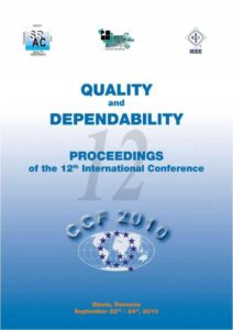 Proceedings of the 12th International Conference on Quality and Dependability - CCF 2010