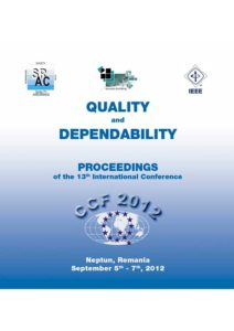 Proceedings of the 13th International Conference on Quality and Dependability – CCF 2012